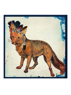 Wild Fox Fine Art Canvas by Oliver Gal at Gilt
