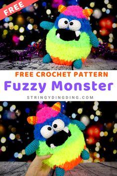 Crochet Amigurumi Free Patterns, Crochet Ideas, Crochet Stitches, Crochet Projects, Free Crochet, Knitting Patterns, Crochet Monsters, Crochet Animals, Autumn Crochet