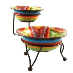 2 Piece Endless Bowl Set with Stand