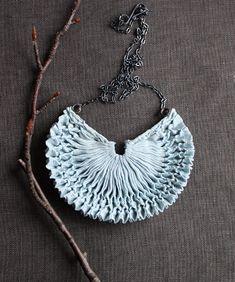 beautiful smocked necklace