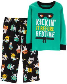 40d0ea6345 Baby Boy 2-Piece Monster Snug Fit Cotton & Fleece PJs | Carters.