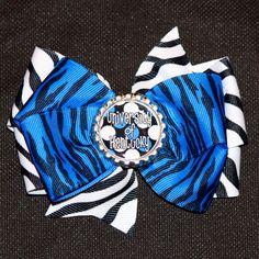 University of Kentucky Zebra Hair Bow by MegansHairCandy on Etsy, $6.50