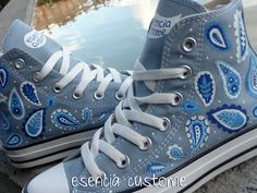 Esencia Custome: Zapatillas personalizadas - Custom sneakers-Cachemir print