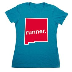 Womens Everyday Runners Tee New Mexico Runner - Show off your pride for New Mexico with this great New Mexico Runner State Tee.
