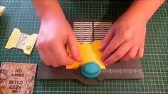 Spool Card tutorial using the We R Memory Keepers envelope punch board.