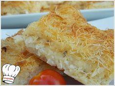 ΤΥΡΟΠΙΤΑ ΜΕ ΦΥΛΛΟ ΚΑΤΑΙΦΙ ΚΑΙ 4 ΤΥΡΙΑ!!! | Νόστιμες Συνταγές της Γωγώς Pita Recipes, Greek Recipes, Cooking Recipes, Quiche, Bakery, Brunch, Cheese, Vegan, Food