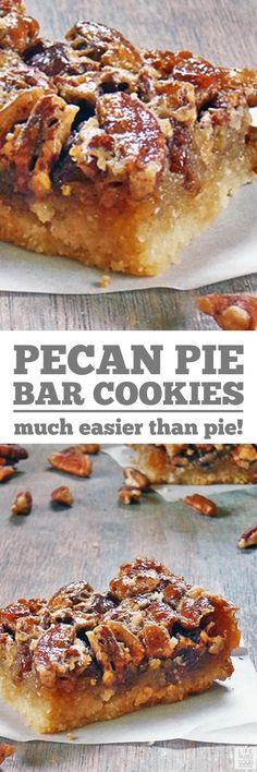 The Best Pecan Pie Bars! An easy recipe with a shortbread crust and ooey gooey Pecan Pie goodness in every bite! After just one bite, these bar cookies will be your go to Thanksgiving treat for sure! #LTGrecipes