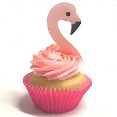Flamingo Cupcakes, Party Themes, Desserts, Fun, Tailgate Desserts, Deserts, Postres, Dessert, Plated Desserts