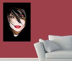 Siyah Saçlı Kız Tablo tek parçalı tablolar