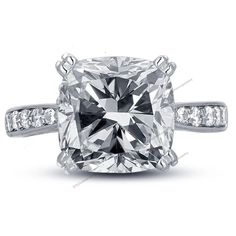 Double Prong 1-5/9 CTW D/VVS1 Diamond Reverse Tapered 925 Silver Engagement Ring #BR925 #WomensWeddingEngagementRing