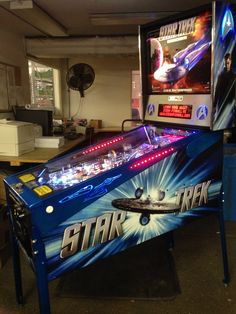 Sneak preview of the not yet in production Star Trek LE on the Stern Pinball factory tour. Chicago Expo 2013.