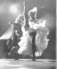 cancan  The 1950's! The Moulin-Rouge!