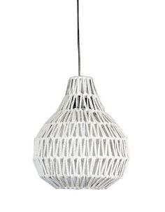 Cooper Small White String Pendant Light