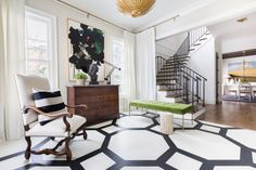 HOUSE TOUR: A Black-And-White Home Filled With Warmth And Texture