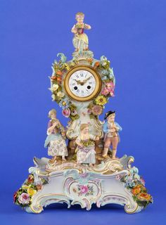 Meissen Porcelain Manufactory (Germany) —  Clock with base,  19th century(737×1000)