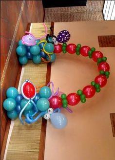 Arco con globos del mar
