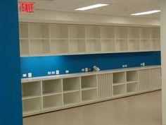 hamilton sorter wall mounted open cabinets. | modern office