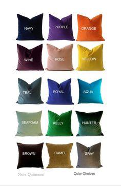 Velvet Decorative Pillows  by NoraQuinonez NoraQuinonez.Etsy.com #HomeDecor