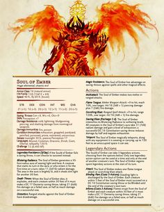 Maldazar the Firedeath and The Soul of Ember, my first attempt at a homebrewed multistage boss fight for by Eberron Campaign. Dungeons And Dragons Classes, Dungeons And Dragons Characters, Dungeons And Dragons Homebrew, Dnd Characters, Mythical Creatures Art, Mythological Creatures, Fantasy Creatures, Dnd Stats, Dnd Dragons