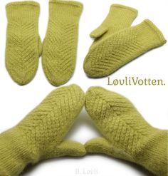 Ravelry: Løvli Votten pattern by StrikkeBea Knit Mittens, Knitting Accessories, Drops Design, Hand Warmers, Ravelry, Nepal, Pattern, Blog, Knits