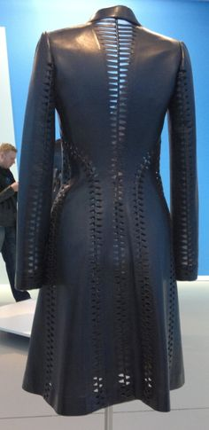 Beautiful leather coat by Azzedine Alaia