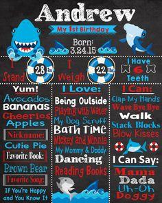 Nautical birthday chalkboard, nautical theme party, nautical first birthday, boy nautical chalkboard First Birthday Board, 1st Birthday Boy Themes, Boy Birthday Parties, 9th Birthday, Birthday Ideas, Pink And Gold Birthday Party, Birthday Chalkboard, Nautical Theme, First Birthdays