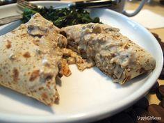 Mushroom-Cashew Breakfast Burritos from Nut Butter Universe