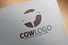 Cow Logo Template by Josuf Media on @creativework247