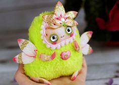 flower Lotus art flower fairy doll flower pixie doll ooak fantasy fairy figurine forest fairy forest pixie