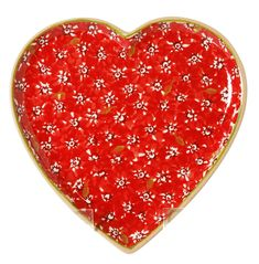 Medium Heart Plate Red Yummy Treats, Heart Shapes, Lawn, Table Settings, Pottery, Valentines, Plates, Medium, Red