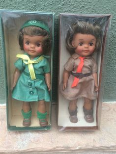 Effanbee 1960's Brownie Girl Scout Official Dolls MIB Black African American