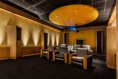 Top 70 Best Home Theater Seating Ideas - Movie Room Designs Home Theater Room Design, Home Cinema Room, Best Home Theater, Home Theater Rooms, Home Theater Seating, Theater Seats, Theatre, Media Room Seating, Small Home Theaters