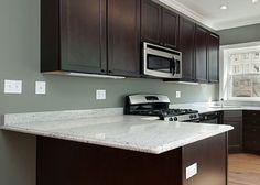 Dark Cabinets with White Granite Countertops : Kitchen Cabinet Colors with White Countertops – Kitchen Design Inspiration