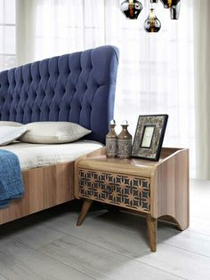 Discover unique nightstands for your Bedroom in mid-century, contemporary, industrial or vintage style by some of the best furniture makers out there. Furniture Design, Interior Furniture, Bedroom Design, Furniture, Bedroom Bed Design, Modern Bedroom Furniture Sets, Simple Bedroom Design, Home Decor Furniture, Modern Bedroom Furniture