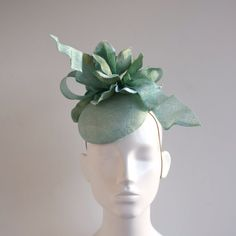 Mint Green Sinamay Straw Spring - Summer Button Hat - Percher - Mini-hat -  Wedding - Race Day - Peppa cd663ce0c18