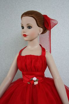 "Valentine Dress for 18"" Kitty Collier Tonner - BabetteDoll Fashions"
