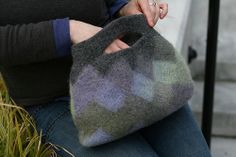 Felted Entrelac Clutch (free Rav download)