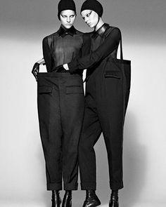 thombrowneny: ... sisters ... fall 2008 #thombrowne #mikaeljansson #karltempler #frejabeha #sarablomqvist #interviewmagazine