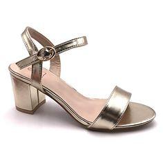 c72bd1b398e65e Angkorly - Chaussure Mode Sandale Escarpin Petits Talons Plateforme Ouvert  Femme Verni Simple Basique Classique Talon