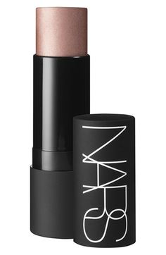 "My favorite highlighter.  I use a dash of this on the tops of my cheek bones, the tip of my nose, the bottom of my chin, and in the center of my forehead.  It gives my face an added glow and makes me look a lot more friendly haha.  :)  Find the ""Eye Opening Act"" stick by Nars at @nordstrom.  #nordstrom."