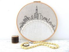 The Latest Trend in Embroidery – Embroidery on Paper - Embroidery Patterns Embroidery Hoop Art, Cross Stitch Embroidery, Embroidery Patterns, Machine Embroidery, Blackwork Embroidery, Embroidery Techniques, Needlework, Textiles, Sewing