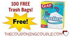 "FREE Box of Glad Trash Bags after SYW Points at Kmart!  FREE Max Shipping, too!   Box of FREE Trash Bags from Kmart after Shop Your Way 100% points back!  var ci_cap_scriptId = ""196221""; var ci_cap_bid = ""1270370001""; var ci_cap_format = ""300x250""; var ci_cap_bannerType = ""10"";  Coupons powered by Coupons.com This great deal is one to score NOW!  Buy a box of 100 t...  Click the link below to get all of the details ► http://www.thecouponingcouple.com/free-box-o"