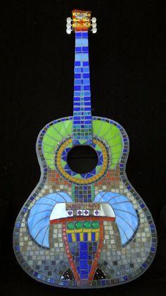 Mosaic guitar : Noel Sandino 2013