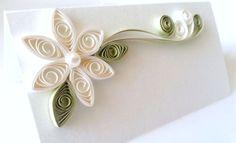 Summer Escort Cards || Paper Flower Wedding Escort Cards by WINTERGREEN DESIGN on Etsy