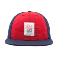 Topo Designs Nylon Ball Cap Navy/Red