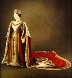 Parliament robes of Queen Victoria, 1838-51  Scanned from In Royal Fashion by Kay Staniland
