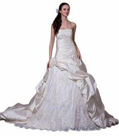 GEORGE BRIDE Luxury Strapless Lace and Taffeta Formal Wedding Dress