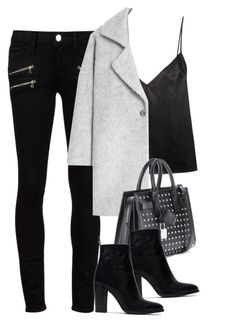 """""""Untitled #2950"""" by charline-cote ❤ liked on Polyvore featuring Paige Denim, Protagonist, MANGO, Yves Saint Laurent, Zara, women's clothing, women, female, woman and misses"""