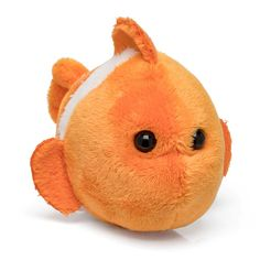 "Wildlife Tree Single Clownfish Mini 4"" Small Stuffed Animal, Ocean Animal Toy, Sea Party Favor for Kids"