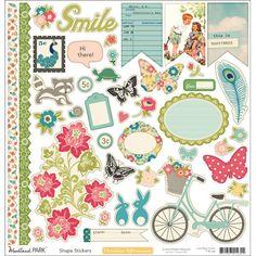 October Afternoon - Woodland Park - 12 x 12 Cardstock Stickers - Shapes at Scrapbook.com $3.00
